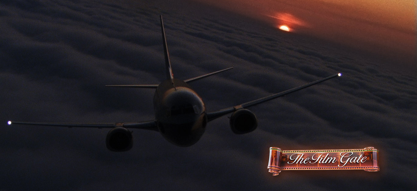 737 Flying Stock Footage Film Gate